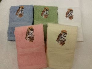 OWL PERSONALISED FACE CLOTH